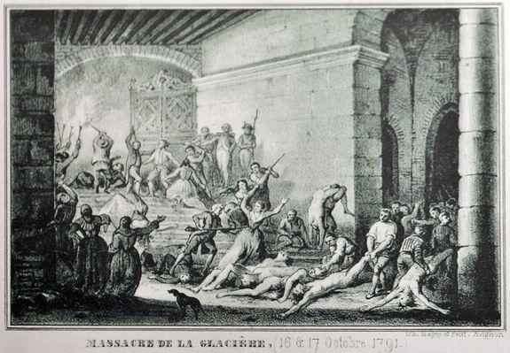 Le massacre de la Glacière - gravure de 1844