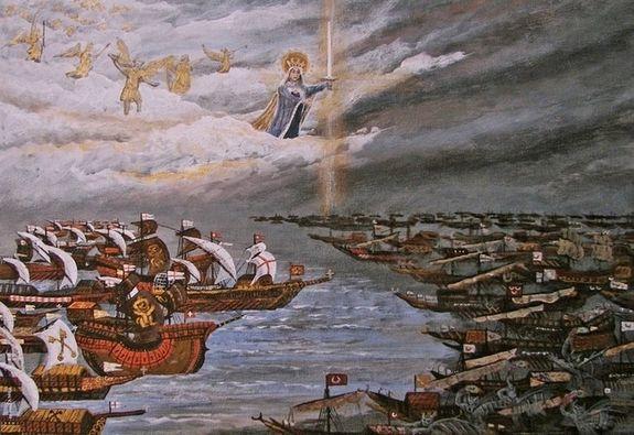 Lépante - tableau illustrant la bataille