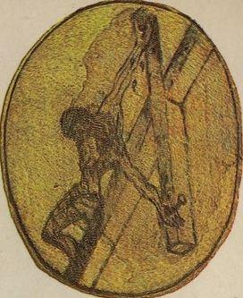 Christ en croix dessiné par Saint Jean de la Croix