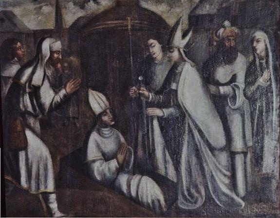 Résurrection de Saint Georges - tableau du XVIIe s église de Saint-Paulien