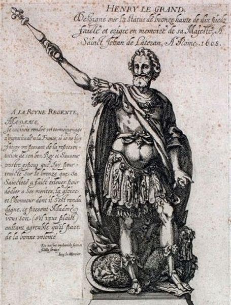 3 - statue de Henri IV gravure
