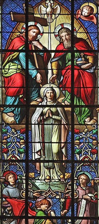Basilique supérieure Lourdes - La Trinité et l'Immaculée