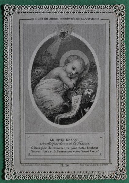 Le divin Enfant réveillé par le cri de la France