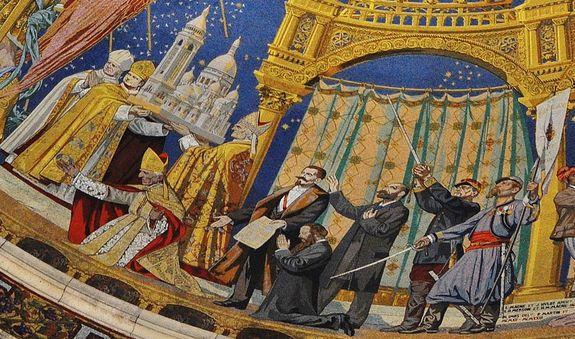 le Voeu National - mosaïque de la basilique de Montmartre