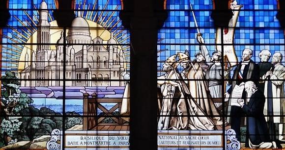 Marseille basilique Sacré-Coeur vitrail du voeu national