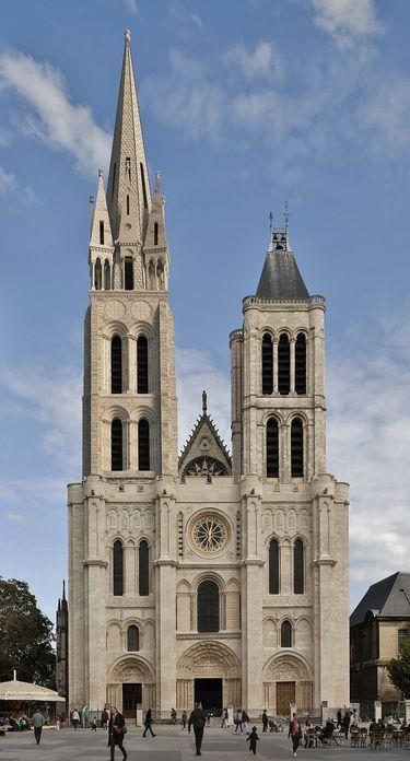 Basilique de Saint-Denys simulation de la façade restituée