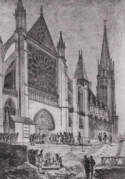 exhumation restes royaux janvier 1817