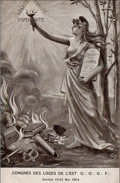 Carte maçonnique de 1904