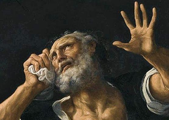 Lodovico Carracci - St Pierre pénitent (détail)