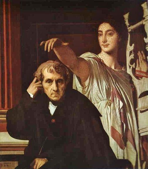 Cherubini et la muse de la poésie lyrique - J.D. Ingres