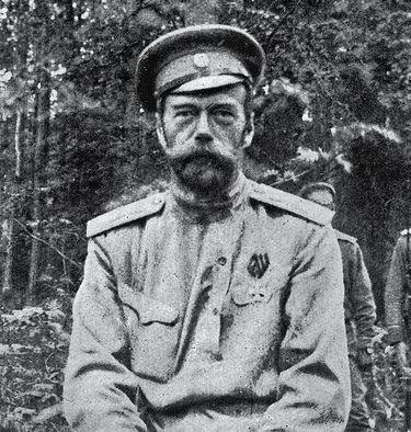 Nicolas II captif à Tsarkoié-Selo en 1917