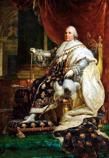 Louis XVIII en costume de sacre par François Gérard