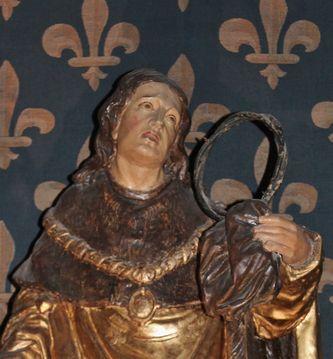 Statue de St Louis avec la Ste Couronne - Le Puy