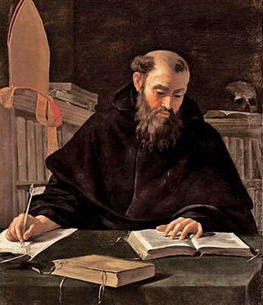 Saint Augustin écrivant