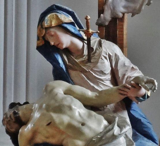 Ignaz Günther Pietà de Weyarn - détail