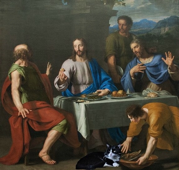 Philippe de Champaigne disciples d'Emmaüs après restauration