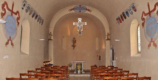 Fresneau intérieur de la chapelle originelle