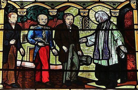 Le Saint Curé d'Ars encourage les promotteurs de la construction du sanctuaire