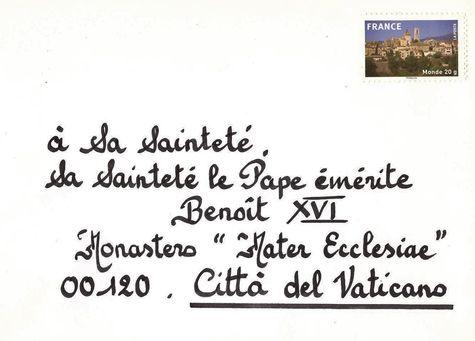 90 ans de Benoît XVI enveloppe