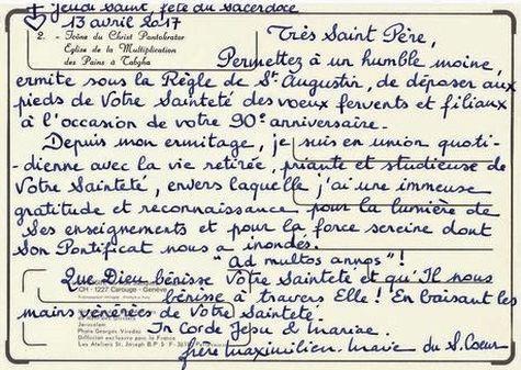 90 ans de Benoît XVI carte verso