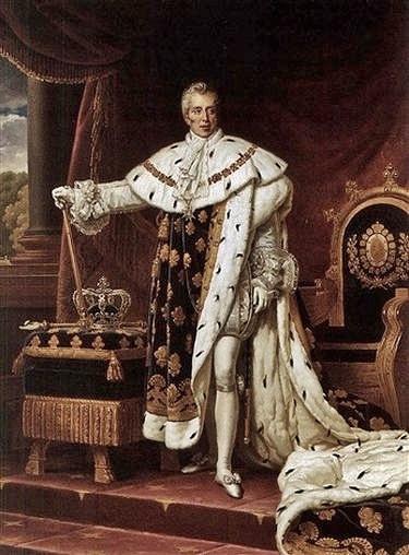 Charles X en costume de sacre par Alexandre-François Caminade