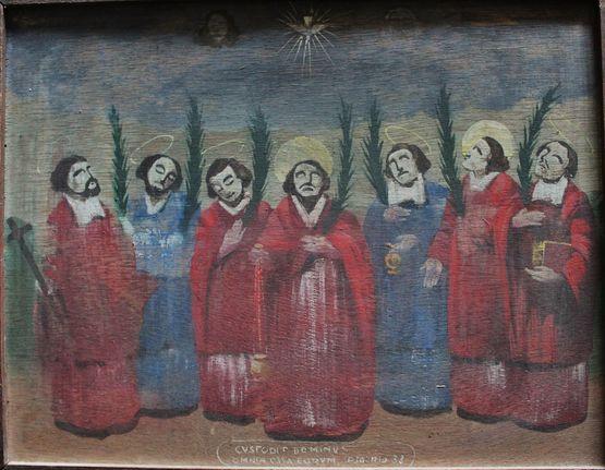 Reproduction naïve du tableau des martyrs de Lamastre
