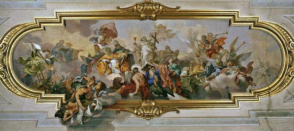 Triomphe de la foi - fresque de Vincenzo Meucci - Rome Palais Corsini 1747