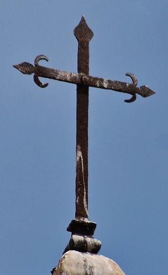Croix du clocher de Chambonas