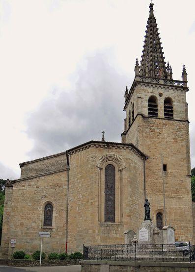 Largentière chevet de l'église ND des Pommiers