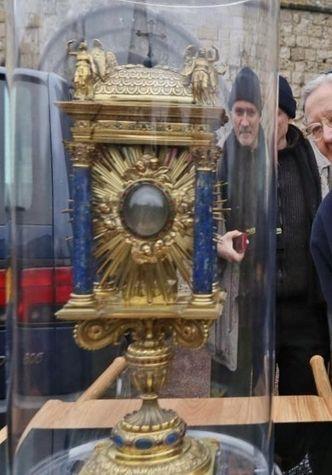 Reliquaire du coeur de Saint Vincent de Paul en voyage en 2017