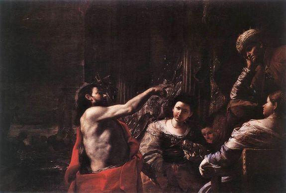 Mattia Pretti - Jean Baptiste reprochant à Hérode son inconduite - 1665