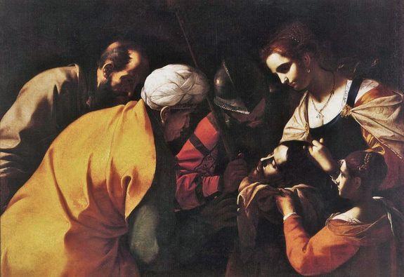 Mattia Preti - Salomé avec la tête de Jean