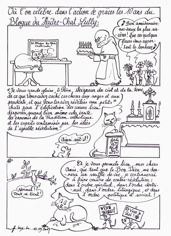 BD 10 ans du Blogue du Maître-Chat Lully
