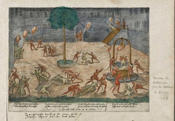 La Michelade de Nîmes gravure de Frans Hogenberg