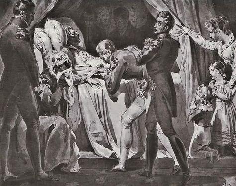 Mort de SM le Roi Louis XVIII le 16 sept 1824