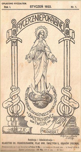 Le Chevalier de l'Immaculée - couverture du premier numéro