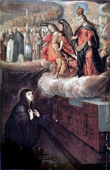 Cristóbal de Villalpando - apparition de la Vierge à Ste Brigitte 1680-89
