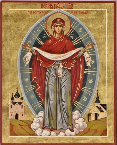 Icône de la protection de la Mère de Dieu