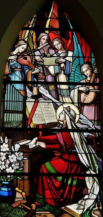 Ste Cécile - Vitrail de la chapelle des Marins à Cayeux-sur-Mer