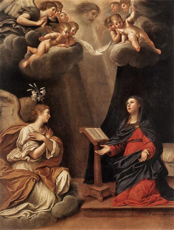 Francesco Albani - Annonciation (ermitage St-Petersbourg)
