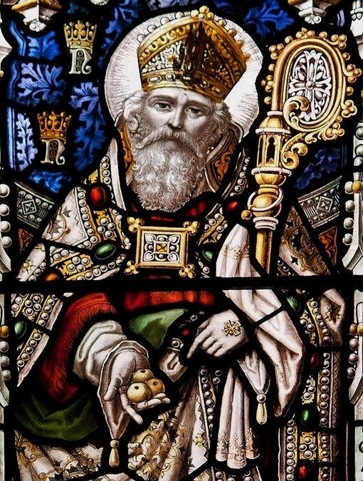 St Nicolas de Myre - vitrail de la cathédrale de Newcastle - détail 1