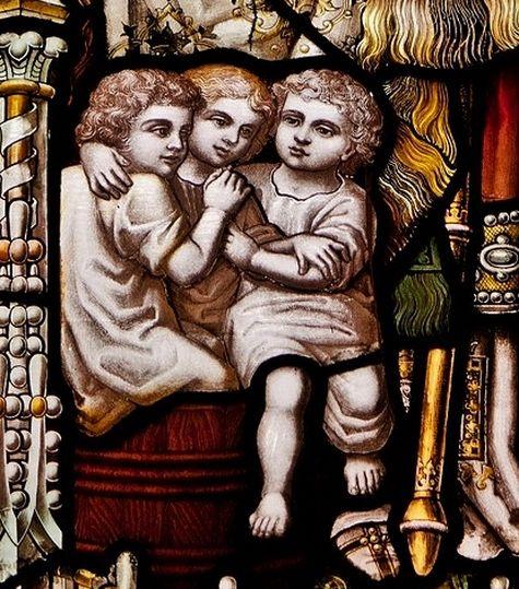 St Nicolas de Myre - vitrail de la cathédrale de Newcastle - détail 2