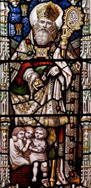St Nicolas de Myre - vitrail de la cathédrale st Nicolas de Newcastle