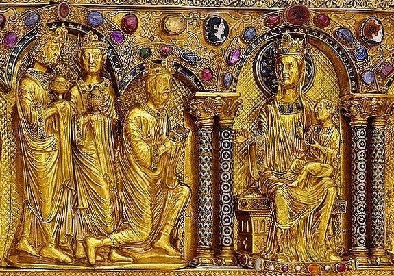Châsse des Rois Mages - détail l'adoration des Rois