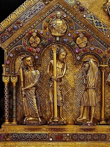 Châsse des Saints Rois face arrière détail - la Flagellation