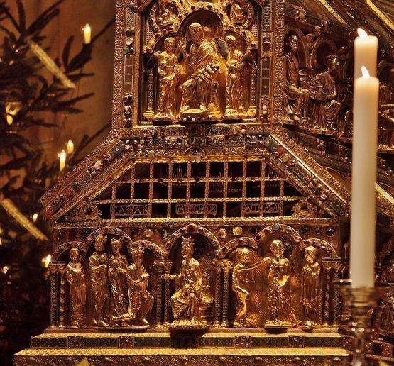 Châsse des Saints Rois Mages ouverte