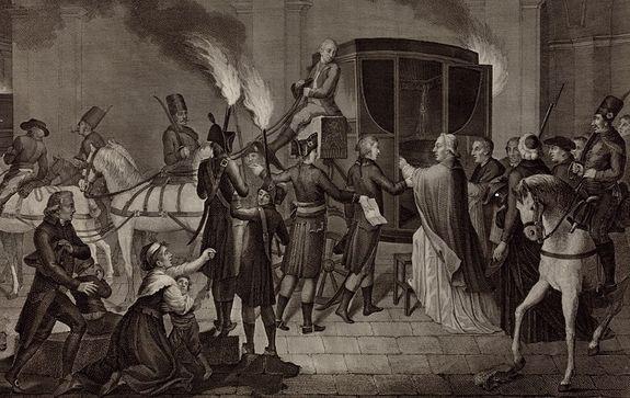 Départ de Pie VI de Rome le 20 février 1798 - détail