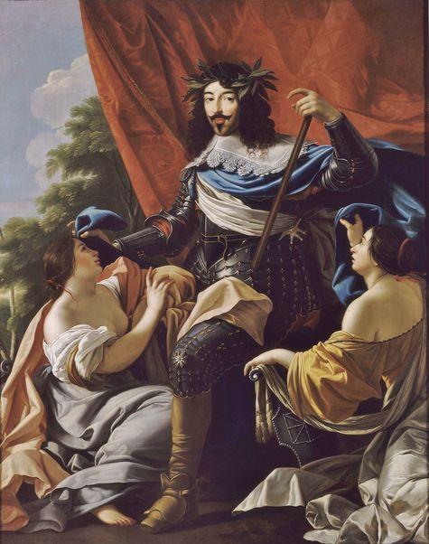 Louis XIII avec la France et la Navarre - Simon Vouet 1624