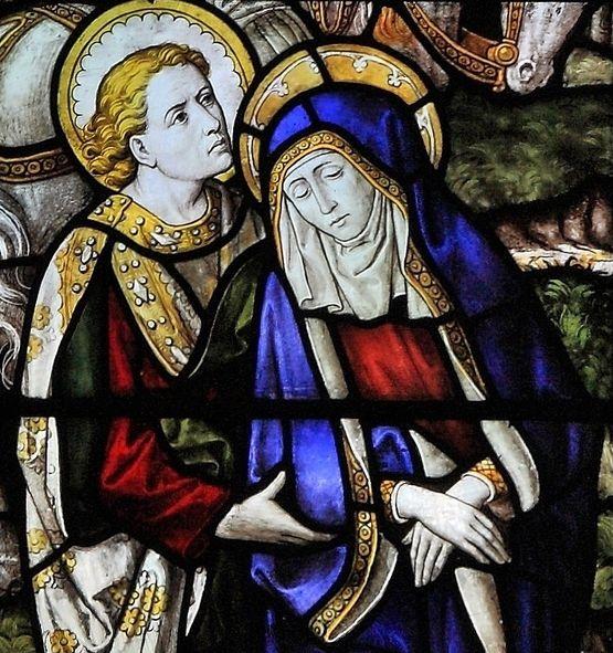 Durham, Sainte Marguerite d'Antioche Crucifixion par Burlison et Grylls - détail