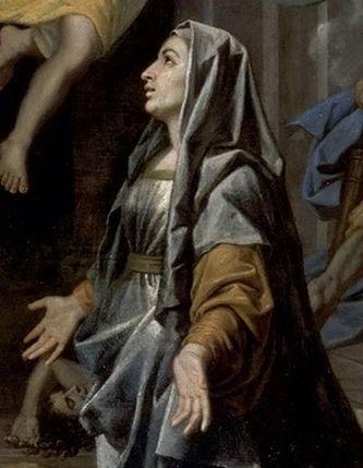 Poussin - Sainte Françoise Romaine détail 1